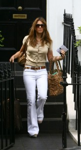 Liz Hurley Leaving Her Home London June 17, 2008